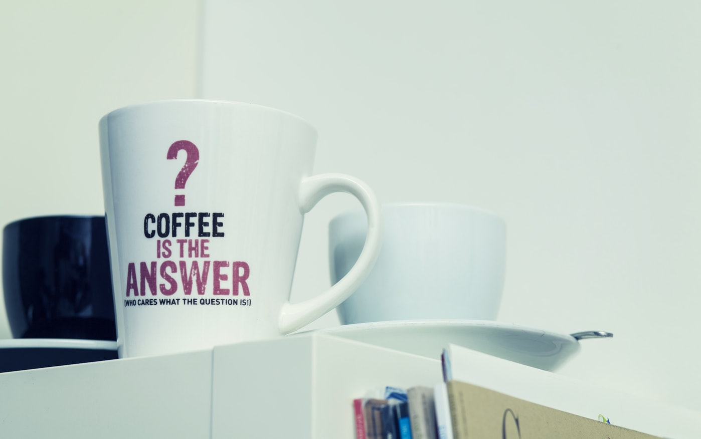Picture of a cofee mug with a question mug